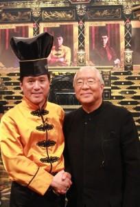 (写真)中華のアイアンシェフ 脇屋友嗣氏と校長